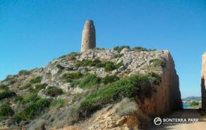Torre Colomera vía verde Benicàssim a Oropesa del Mar