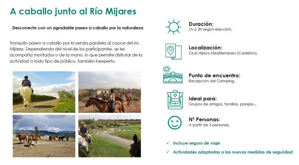 Ruta a caballo en el río Mijares